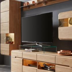 Glas TV-Bühne passend zu Lowboards