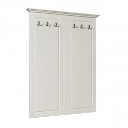 BELLUNO Garderobenpaneel 130x108 cm massiv Kiefer creme-weiß