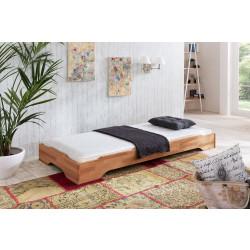 JUIST Stapelbett Gästebett Bett 90x200 Kernbuche geölt + Matratze ESTER H3