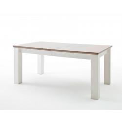 LA PALMA von MCA Esstisch 180x100 cm ausziehbar auf 280 cm Kiefer weiß