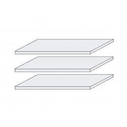 LAGUNA 3x Fachböden breit 107 cm für Schränke 4-trg. und 5-trg. Pinie weiß NB