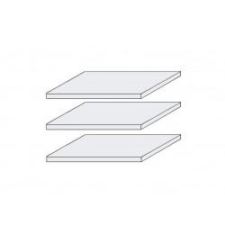 LAGUNA 3x Fachböden schmal 47 cm für Schrank 5-trg. Pinie weiß NB