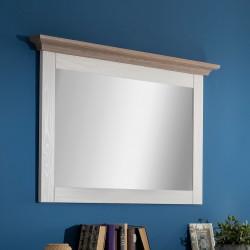 LOCARNO Hängespiegel 112 cm weiß grau Pinie massiv