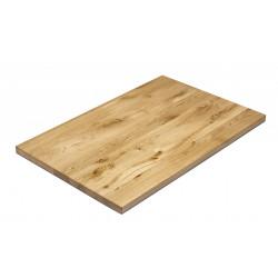 NAPOLI massive Gastro Tischplatte 120x80 cm Eiche lackiert