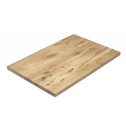 Tischplatte für Gastronomie Eiche massiv lackiert 120x80 cm NAPOLI