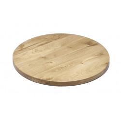 NAPOLI massive Gastro Tischplatte rund 80 cm Eiche lackiert