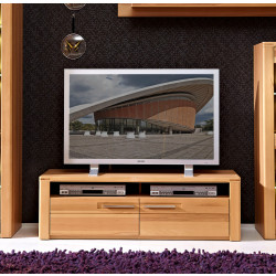 NATURE-PLUS TV-Lowboard 130 cm Kernbuche teilmassiv