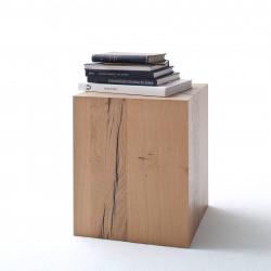 NIZZA von MCA Beistelltisch 40x40 cm weiß matt & Crackeiche