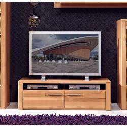 TV-Lowboard aus Kernbuche teilmassiv 130 cm breit NOVARA