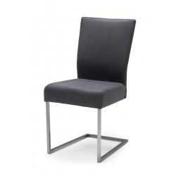 QIARA Freischwinger Stuhl aus Microfaser und Edelstahl Kufe
