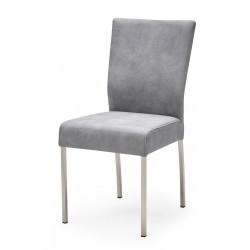 Esszimmerstuhl aus Stoff Farbe wählbar Beine aus Edelstahl QIARA