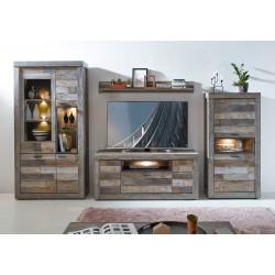 SANTA FE Wohnwand 4-tlg Driftwood NB Nr.81