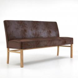 SOPHIE Sitzbank 180 cm in Stoff / Textil Beine aus Buche oder Eiche