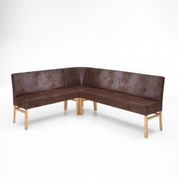 SOPHIE Eckbank 150x150cm in Stoff / Textil aus Buche oder Eiche