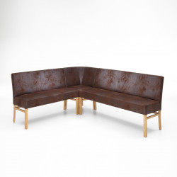 SOPHIE Eckbank 180x180cm in Stoff / Textil aus Buche oder Eiche