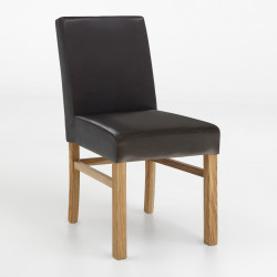 SOPHIE Polsterstuhl in Kunstleder Beine aus Buche oder Eiche