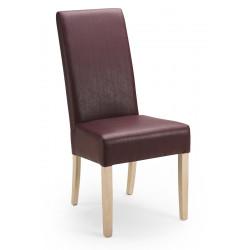 Esszimmerstuhl aus Kunstleder Beine aus Buche oder Eiche Farben wählbar JANA