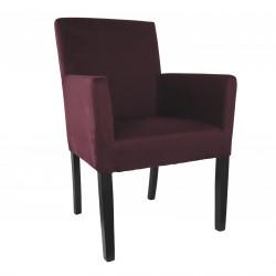 Armlehnstuhl aus Microfaser Beine aus Buche oder Eiche Farben wählbar THEO