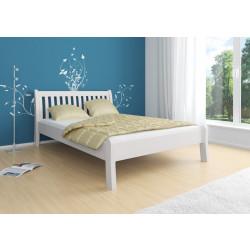Komfortbett im Landhausstil 140x200 Kiefer massiv weiß TONDER
