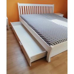 Bettschubladen 2er Set mit Blende für Liegefläche 160x200 Kiefer massiv weiß TONDER