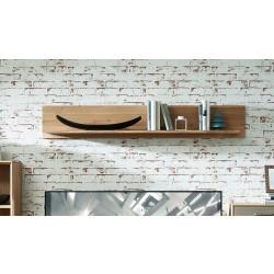 TOPAZ Wandboard 150 cm Wildeiche massiv gebürstet Bianco