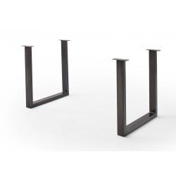 CALVERA Tischgestell U-Form antik gewischt 2er Set
