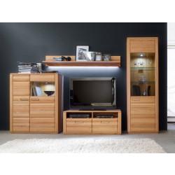Wohnwand Kernbuche 4-teilig 319 cm Breite Nr.11 Sena von MCA Furniture