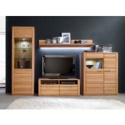 Wohnwand Kernbuche 4-teilig 319 cm Breite Nr.1 Sena von MCA Furniture