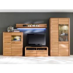 Wohnwand Kernbuche 4 teilig Sena von MCA Furniture