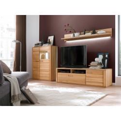 Wohnwand Kernbuche teilmassiv 3-teilig Sena von MCA Furniture