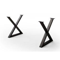 CALVERA Tischgestell X-Form anthrazit lackiert 2er Set