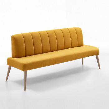 Sitzbank aus Stoff 162 cm mit Holzgestell Malmö