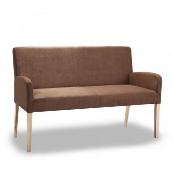 Sitzbank aus Microfaser 123 cm mit Holzgestell Alfo