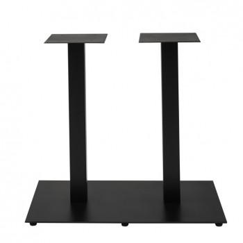 NIZZA Gastro Doppel-Tischgestell 80x48 rechteckig Höhe 72 cm