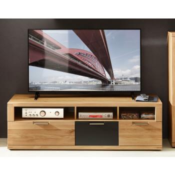TV-Lowboard 160 cm Wildeiche Bianco teilmassiv Bianco