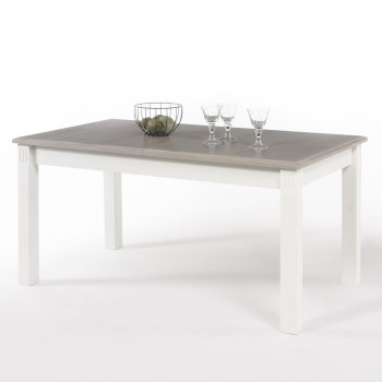 Esstisch ausziehbar weiß 160x90 Kiefer Cordoba