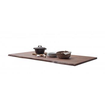 CALVERA Tischplatte 200x100 3 cm Akazie Walnuss lackiert