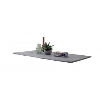 CALVERA Tischplatte 180x90 2,5 cm Akazie grau sandgestrahlt lackiert