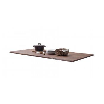 CALVERA Tischplatte 160x90 2,5 cm Akazie Walnuss lackiert