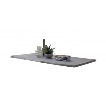 CALVERA Tischplatte 200x100 3 cm Akazie grau sandgestrahlt lackiert