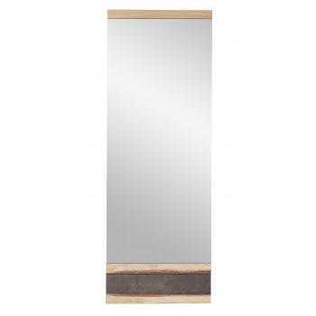 Spiegel 42x117 cm Wildeiche teilmassiv Crusty