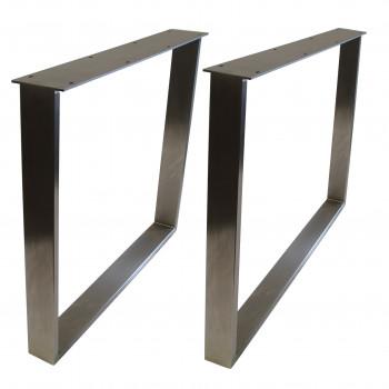 STEEL Esstischgestell Edelstahlrahmen 80x73 cm Profil 80x20 mm