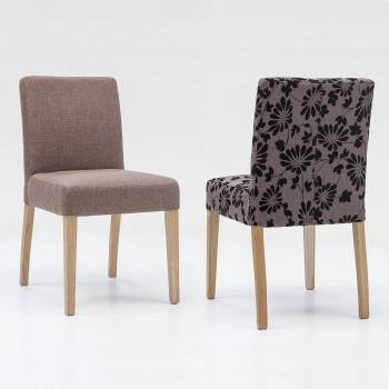 ALFO Polsterstuhl Stoff / Textil Farbe wählbar