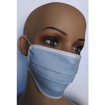 Gesichtsmasken aus Baumwolle blau 10-er Set
