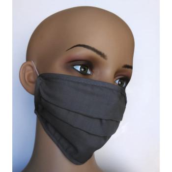 Gesichtsmasken aus Baumwolle grau 4-er Set