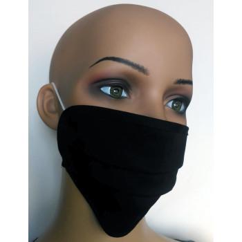 Gesichtsmasken aus Baumwolle schwarz 10-er Set