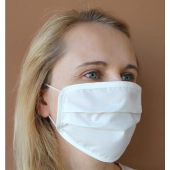 Gesichtsmasken aus Baumwolle weiß antibakteriell 4-er Set