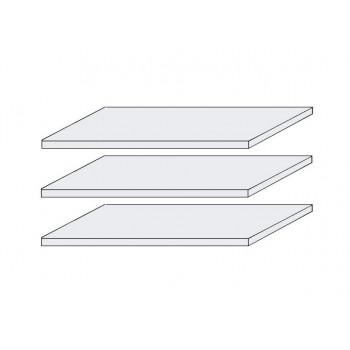 LAGUNA 3x Fachböden für Schränke 4-trg. und 5-trg. Pinie weiß