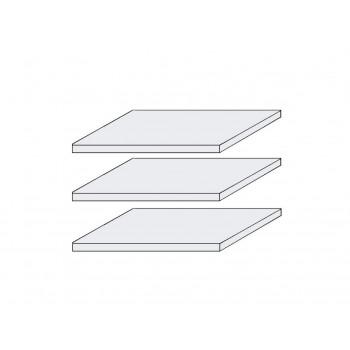 LOCARNO 3x Fachböden für Schrank 5-trg. Pinie weiß