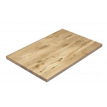 Tischplatte Eiche massiv 120x80 cm NAPOLI